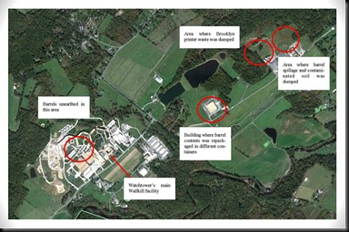 Areal view of Watchtower Wallkill incident